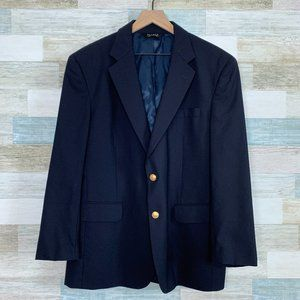 Jos A Bank Wool Blazer Navy Blue 42S